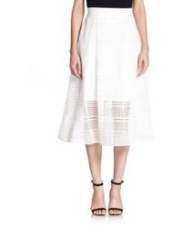 Nicholas Geometric Lace A Line Skirt
