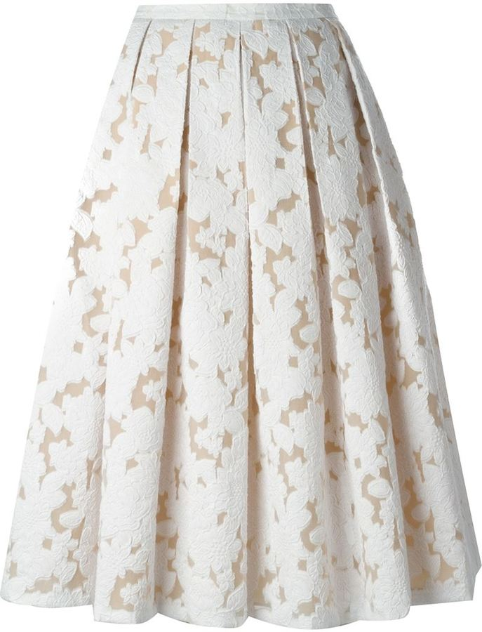 3d3c542364 Michael Kors Michl Kors Floral Lace Pleated Skirt