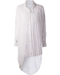 Gaze de lin asymmetrical pleated blouse medium 166126