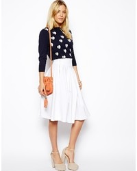 Women's White Pleated Midi Skirts from Asos | Women's Fashion