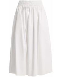 The Row Betsy Stretch Cotton Midi Skirt