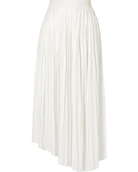 Isabel Marant Dol Asymmetric Pleated Satin Midi Skirt