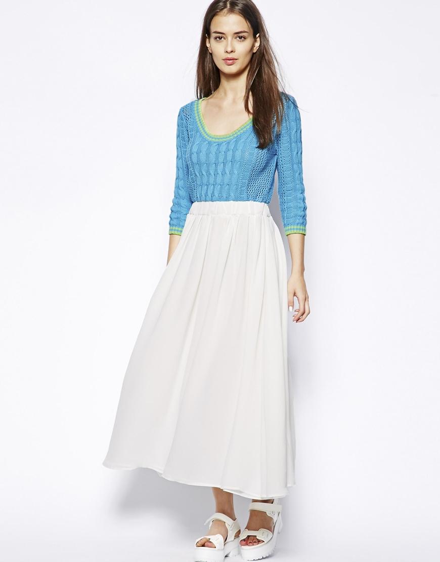 white pleated midi skirt dress gallery noreen midi dress