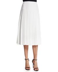 Joann pleated midi skirt white medium 362626