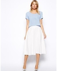 Pleated White Midi Skirt | Jill Dress