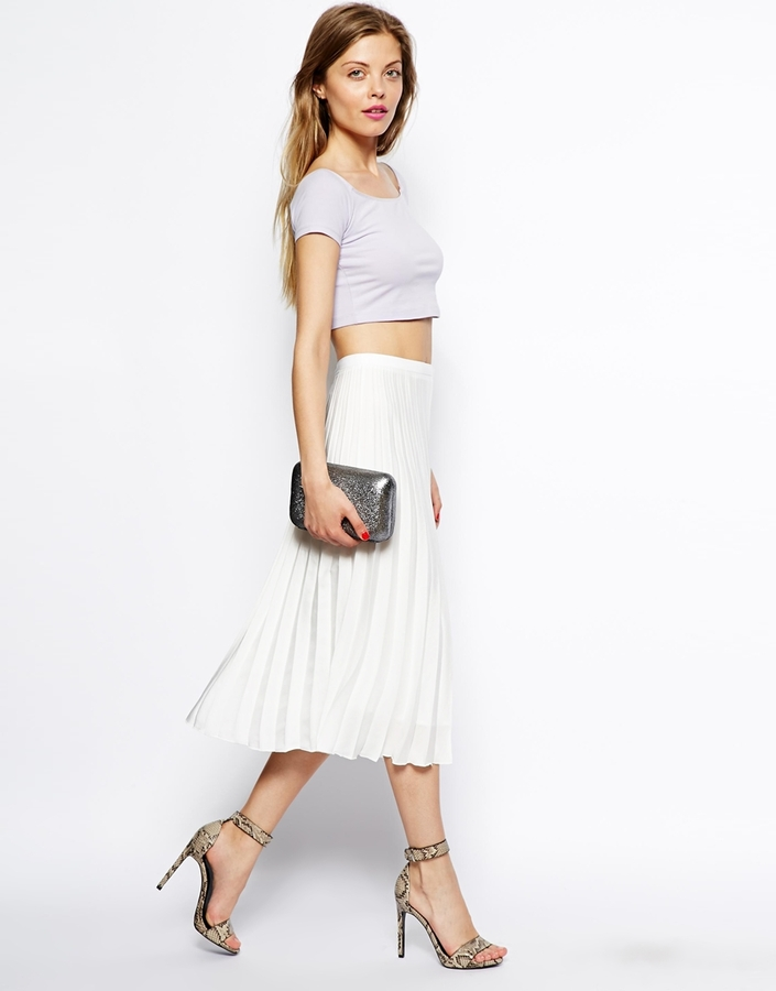 Asos Pleated Midi Skirt | Where to buy & how to wear