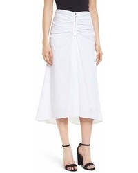 Ruched front midi skirt medium 6988852