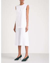 Victoria Victoria Beckham Pleated Skirt Woven Midi Dress