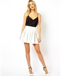 Women's White Pleated Mini Skirts from Asos | Women's Fashion
