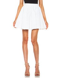 Elle Sasson Benton Cotton Skirt In White