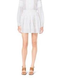 Michael Kors Michl Kors Tiered Cotton Organdy Mini Skirt