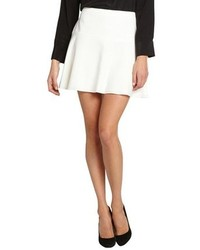 BCBGMAXAZRIA Off White Lucy A Line Mini Skirt