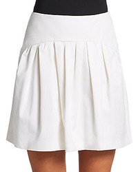 Red valentino stretch cotton mini skirt medium 160770