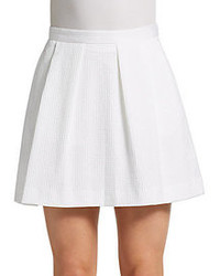 French Connection Textured Box Pleat Mini Skirt