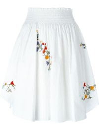 Tory Burch Embroidered Floral Detail Pleated Skirt