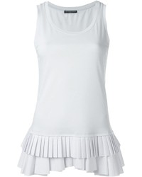 Alexander McQueen Pleated Hem Tank Top