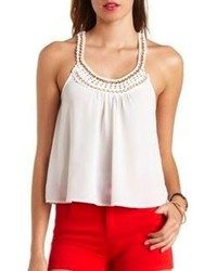 Charlotte Russe Chain Crochet Swing Tank Top