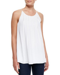 Milly Pleated Cut In Flowy Tank