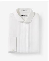 Slim fit pleated tuxedo dress shirt medium 5027225