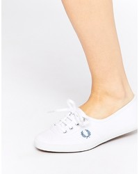 Fred Perry Aubrey Canvas White Sneakers