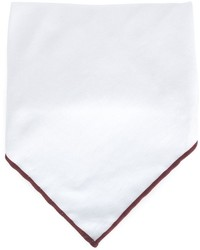 Brunello Cucinelli Contrast Line Pocket Square