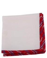 Coeur Oxford Silk Pocket Square White