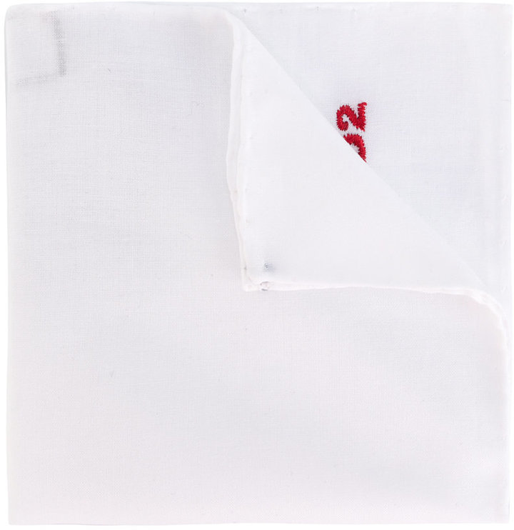 DSQUARED2 D2 Embroidered Pocket Square