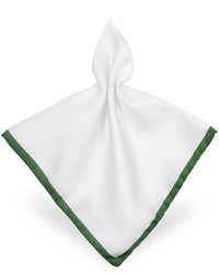 Forzieri Framed Solid White Silk Pocket Square