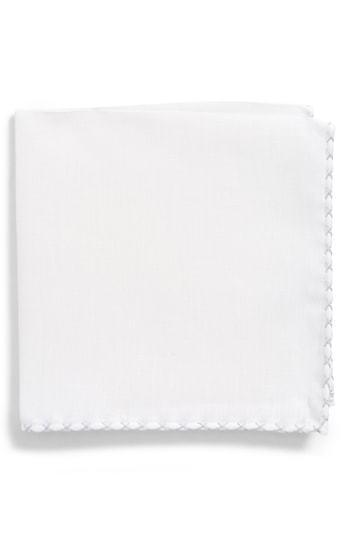 Eleventy Solid Linen Pocket Square