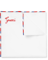 Gucci Stripe Trimmed Cotton Pocket Square
