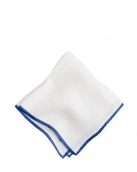 J.Crew Tipped Italian Linen Pocket Square
