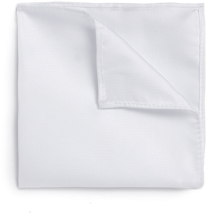 Topman Off White Pocket Square