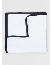Topman White Outline Pocket Square