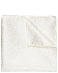 River Island White Pocket Square