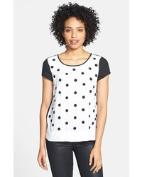 Adrianna Papell Embellished Polka Dot Tee