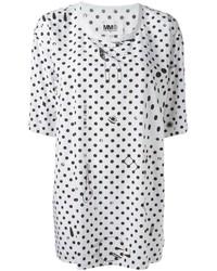 MM6 MAISON MARGIELA Long Polka Dot T Shirt
