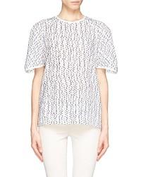 Nobrand Wool Polka Dot Semi Sheer T Shirt