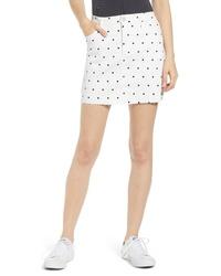 Tinsel Polka Dot Denim Miniskirt