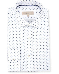 1 like no other woven dot print dress shirt blue medium 848670