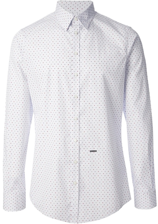 Dsquared2 dotted shirt where to buy how to wear for Buy white dress shirt