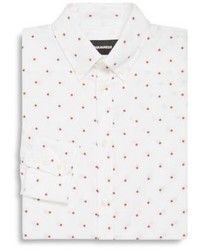 DSQUARED2 Polka Dot Pattern Dress Shirt