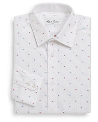 Robert graham isaac herringbone dress shirt medium 273651