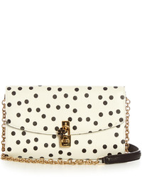 Dolce & Gabbana Polka Dot Print Leather Cross Body Bag