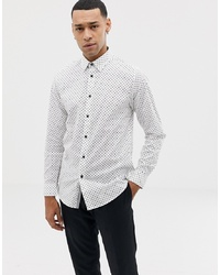 Ted Baker Shirt With Dot In White