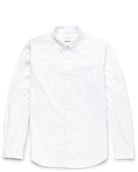 Club Monaco Slim Fit Button Down Collar Pin Dot Cotton Shirt