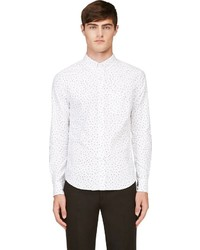 Band Of Outsiders White Black Polka Dot Button Down Shirt