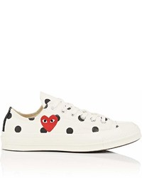 White Polka Dot Low Top Sneakers