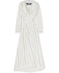 Jacquemus La Tunique Badii Fil Coup Voile Midi Dress