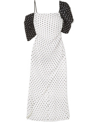 Rejina Pyo Layla Wrap Effect Polka Dot Seersucker Midi Dress