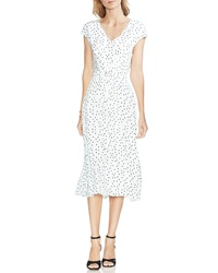 Vince Camuto Polka Dot Midi Dress